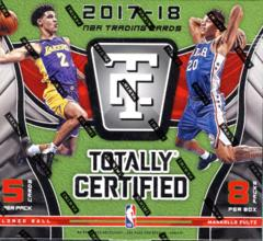 2017-18 Panini Totally Certified Basketball Hobby Box