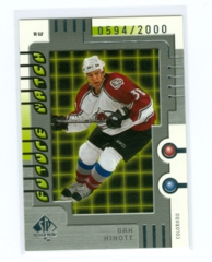 1999-00 SP Authentic #100 Dan Hinote #/2000 (Rookie)
