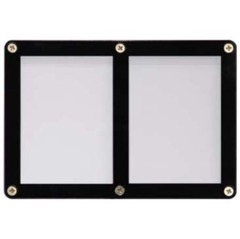 Ultra Pro 2-Card Black Frame Screwdown Holder