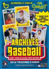 2018 Topps Archives Baseball Value Box