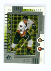 1999-00 SP Authentic #122 Pavel Brendl #/2000 (Rookie)