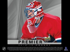 2018-19 Upper Deck Premier Hockey Hobby Box- Call for Pricing & Availability