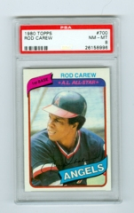1980 Topps #700 Rod Carew PSA 8