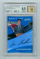 2017-18 Absolute Memorabilia Draft Day Ink #7 Lauri Markkanen #20/25 BGS 8.5/10