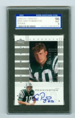 2000 UD Graded #158 Chad Pennington (Rookie) SGC 96