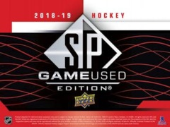 2018-19 Upper Deck SP Game Used Hockey Hobby Box- Call For Pricing & Availability