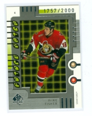 1999-00 SP Authentic #111 Mike Fisher #/2000 (Rookie)