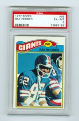 1977 Topps #098 Ray Rhodes (Rookie) PSA 6