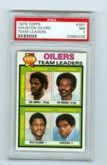1979 Topps #301 Houston Oilers Team Leaders PSA 7