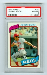 1980 Topps #100 Johnny Bench PSA 8