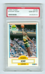 1990-91 Fleer #178 Shawn Kemp (Rookie) PSA 10
