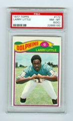 1977 Topps #172 Larry Little PSA 8OC