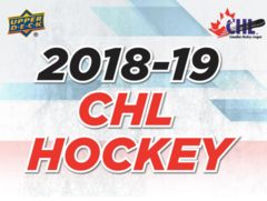 2018-19 Upper Deck CHL Hockey Hobby Box- Call For Pricing & Availability