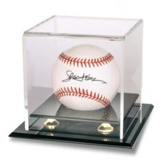 Baseball & Puck Gold Riser Display