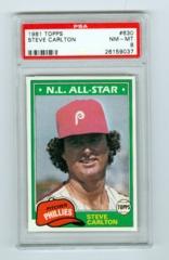 1981 Topps #630 Steve Carlton PSA 8