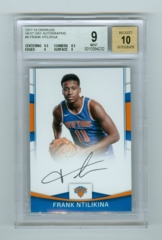 2017-18 Donruss Next Day Autographs #8 Frank Ntilikina BGS 9/10