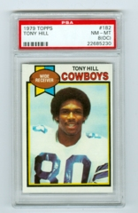 1979 Topps #182 Tony Hill (Rookie) PSA 8OC