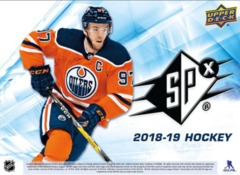 2018-19 Upper Deck SPX Hockey Hobby Box- Call For Pricing & Availability