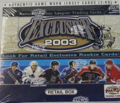 2002-03 Pacific Exclusive Hockey Retail Box