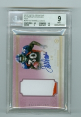 2015 Topps Definitive Collection Autograph Patches Pink #DAP-TD Terrell Davis #1/5 BGS 9/10