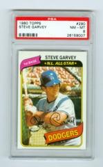 1980 Topps #290 Steve Garvey PSA 8