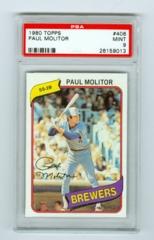 1980 Topps #406 Paul Molitor PSA 9
