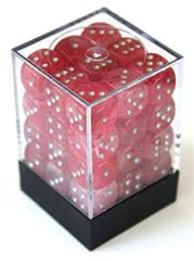 CHX27924: 12mm d6 Ghostly: Pink/Silver