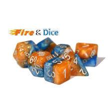 GKG534: 7-Die Set Halfsies - Fire & Dice