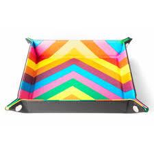 Velvet Folding Dice Tray - Rainbow