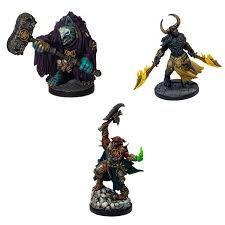 D&D Minis: Descent into Avernus - Arkhan, Torogar, & Krull