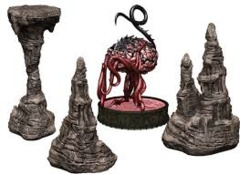 D&D Icons of the Realms: Set 13 - Volo & Mordenkainen's Foes - Elder Brain & Stalagmites Premium Set