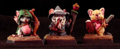 Bones: Mouslings Mage, Archer, Warrior (03529)
