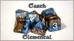 GKG536: 7-Die Set Halfsies - Earth Elemental