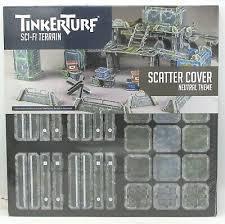 TinkerTurf Sci-Fi Terrain: Scatter Cover - Neutral