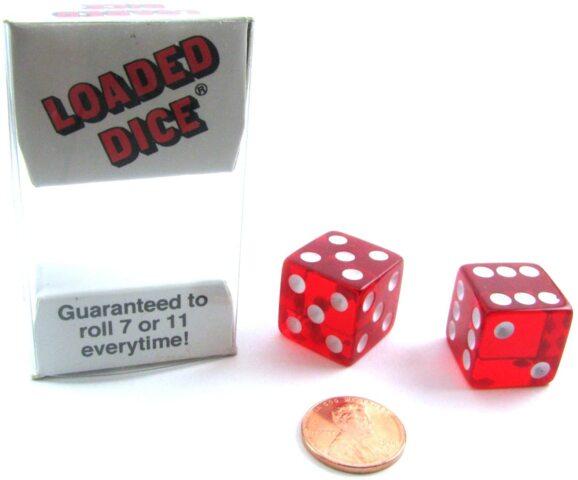 Koplow Games - Transparent Loaded Dice Set