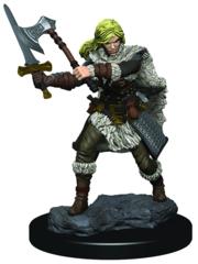 D&D Premium Painted Miniature: Female Human Barbarian