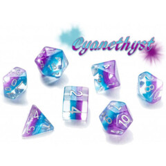 Eclipse Dice: Polyhedral Set - Cyanethyst (7)