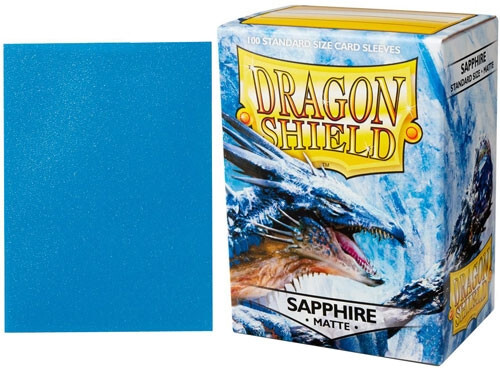 Dragon Shield Matte Standard-Size Sleeves - Sapphire - 100ct