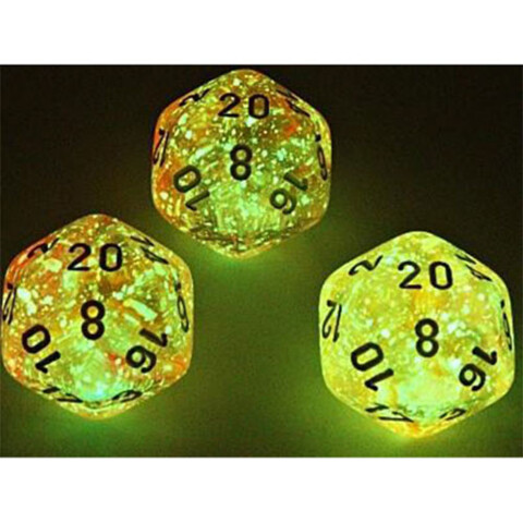 Chessex Polyhedral Dice Set: Lab - Luminary Nebula Supernova/White Glow