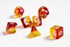 Sirius Dice Set - Translucent Yellow Red