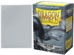 Dragon Shield Matte Standard-Size Sleeves - Silver - 100ct
