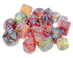 Chessex Polyhedral Dice Set: Nebula Luminary - Primary w/Blue (7)