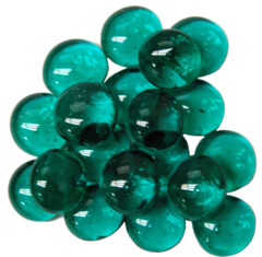 Chessex: Glass Gaming Stones - Teal (40)