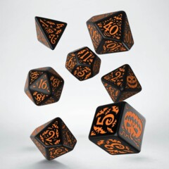 Dice Set Halloween Pumpkin Black & Orange