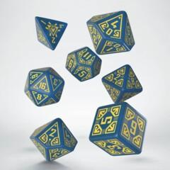 Dice Set Arcade Blue & Yellow