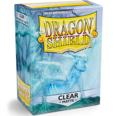 Dragon Shield Matte Standard-Size Sleeves - Clear - 100ct