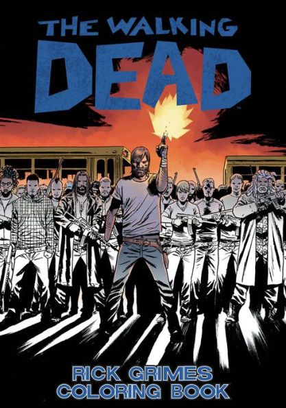The Walking Dead: Rick Grimes Adult Coloring Book SC