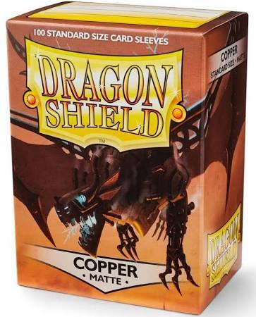 Dragon Shield Matte Standard-Size Sleeves - Copper - 100ct