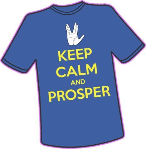 Keep Calm and Prosper T-Shirt - L