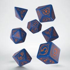 Dice Set Wizard Dark-Blue & Orange